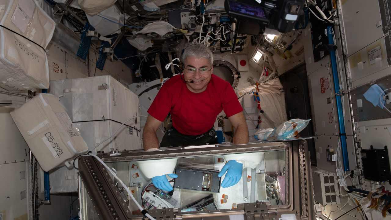 L'astronaute de la NASA et ingénieur de vol de l'Expédition 65, Mark Vande Hei, restera à bord de l'ISS pendant 353 jours après la prolongation de son séjour initial de six mois.  Crédit image : Flickr/NASA