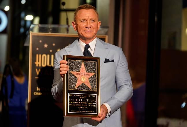 Daniel Craig a reçu une étoile sur le Hollywood Walk of Fame après la sortie de son dernier film Bond.  (Crédit: PA)