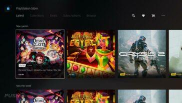 PS5 PlayStation Store affiche désormais les derniers jeux dans une nouvelle section