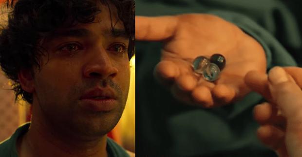 Ali les larmes aux yeux après avoir réalisé qu'il avait été trompé (Photo : The Squid Game / Netflix)